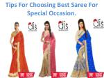 Tips For Choosing Best Sarees For Special Occasions