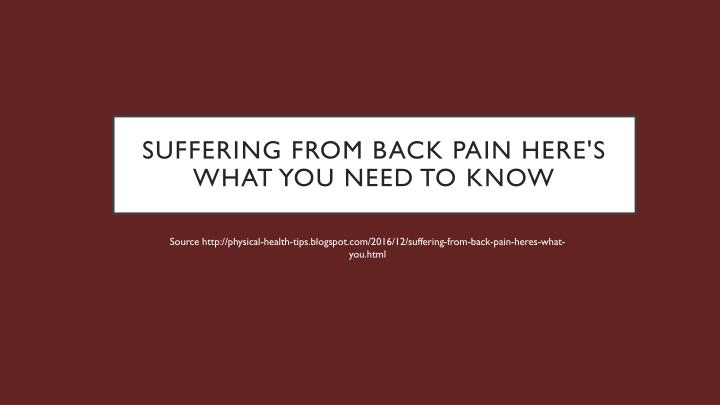 suffering from back pain here s what you need to know n.