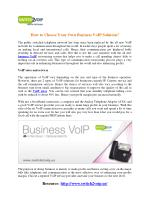 How to Choose Your Own Business VoIP Solution?