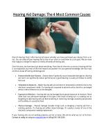 Hearing Aid Damage: The 4 Most Common Causes