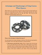 Advantages and Disadvantages of Using Custom Wheel Spacers