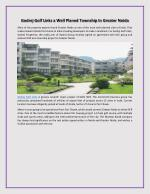 Godrej golf links a well planed township in greater noida