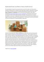 Hyderabad Packers and Movers Shares UseFul Service