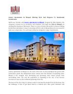 Luxury Apartments In Bhopal:Offering Style And Elegance To Residential Architecture