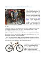 T-Bike Concept now an Official Retailer of KTM Bicycles
