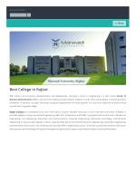 Best College of Rajkot