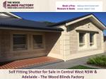 Self Fitting Shutter for Sale in Central West NSW & Adelaide - The Wood Blinds Factory