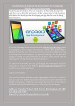 Contribution of Android App Developer for Designing Mobile App for Businesses