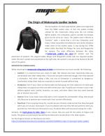 The Origin of Motorcycle Leather Jackets