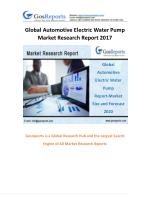 Global Automotive Electric Water Pump Market Research Report 2017