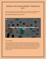 Mobile App Development Trends In 2017 - iMedia Designs