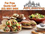 All Catering Melbourne