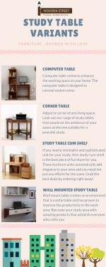 Wooden Study Table Can make my home Classy?