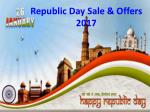Republic Day Offers 2017- Republic Day Sale & Offers Online Shopping at Infibeam