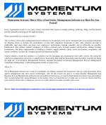 Momentum Systems: This is Why a Food Safety Management Software is a Must For You Period!