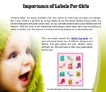 Importance of Labels for Girls