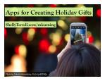 Holiday Apps for Creating Gifts & Learning 2014