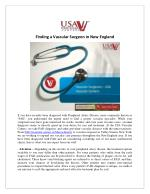 Vascular Surgeon in New England - USA Vascular Centers
