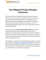 Top 5 Magento Product Designer Extensions