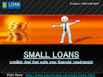 Valuable Suggestions on Small Loans