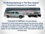 Perth Airport Transfers | FifoTransfers Perth