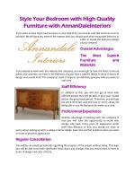 Style Your Bedroom with High Quality Furniture with AnnanDaleInteriors