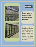 Importance of Commercial Refrigeration Services
