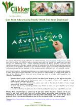 Can Free Advertising Really Work For Your Business?
