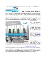 uPVC Windows Manufacturers Delhi Top Deals at Factory Price‎