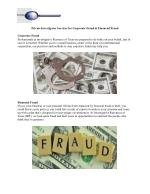 Private Investigator Services for Corporate Fraud & Financial Fraud