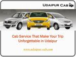 Cab Service That Make Your Trip Unforgettable in Udaipur
