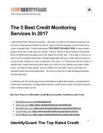 Credit Monitoring & Identity Theft Protection Reviews