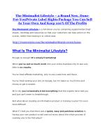 The Minimalist Lifestyle Review and (FREE) The Minimalist Lifestyle $24,700 Bonus