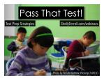 Preparing Students to Pass Their Tests