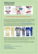 Gift Your Kid's Affordable And Popular Children's Character Clothing
