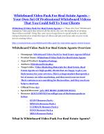 Whiteboard Video Pack For Real Estate Agents Review and Whiteboard Video Pack For Real Estate Agents (EXCLUSIVE) bonuses