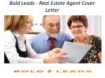 Bold Leads - Real Estate Agent Cover Letter