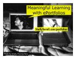Eportfolios for Meaningful Student Learning