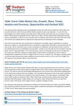 Table Tennis Table Market Share and Outlook 2021 by Radiant Insights
