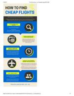 How To Find Cheap Flights: An Infographic