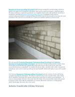 BASEMENT WATERPROOFING CLEVELAND