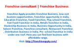 Low cost business opportunities | Franchise consultant