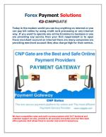 Forex Payment Solutions