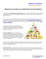 Measures to be taken for a Healthy Diet during Pregnancy