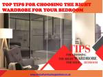 Tips for Choosing the Right Wardrobe for Your Bedroom