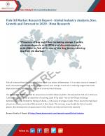 Fish Oil Market Share, Size, Analysis, Growth, Trends and Forecasts, 2012 to 2020 | Hexa Research