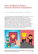 How Gamification Helps in Customer Retention & Satisfaction