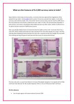What are the features of Rs 2,000 currency notes in India