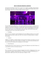 BEST GUIDE FOR WEDDING LIGHTING NJ