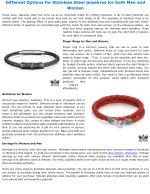 Different Options for Stainless Steel jewelries for both Men and Women